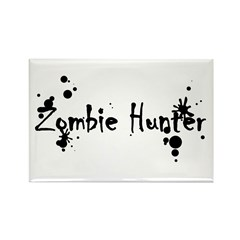Zombie Hunter Splatters Rectangle Magnet (10 pack)