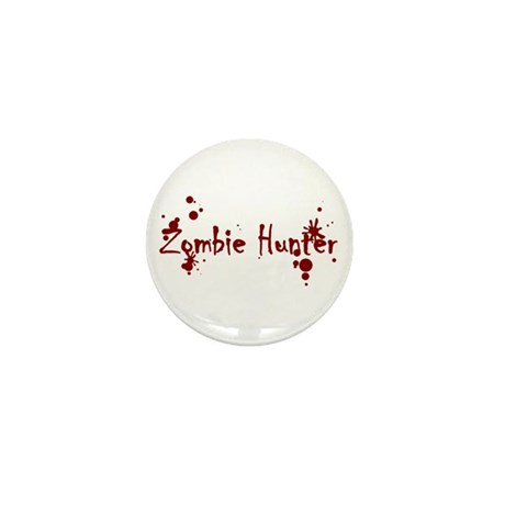 Zombie Hunter Splatters Mini Button