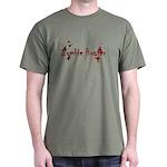 Zombie Hunter Splatters Dark T-Shirt