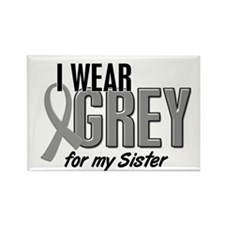 I Wear Grey For My Sister 10 Rectangle Magnet