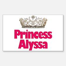 Princess Alyssa Rectangle Decal