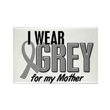I Wear Grey For My Mother 10 Rectangle Magnet