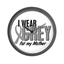 I Wear Grey For My Mother 10 Wall Clock