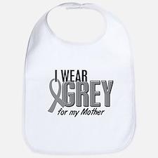 I Wear Grey For My Mother 10 Bib