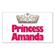 Princess Amanda Rectangle Decal