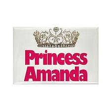 Princess Amanda Rectangle Magnet