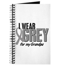 I Wear Grey For My Grandpa 10 Journal