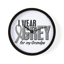 I Wear Grey For My Grandpa 10 Wall Clock