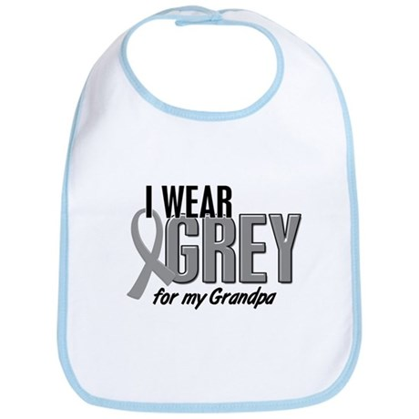 I Wear Grey For My Grandpa 10 Bib