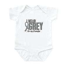 I Wear Grey For My Grandpa 10 Infant Bodysuit