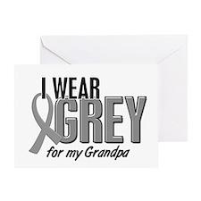 I Wear Grey For My Grandpa 10 Greeting Card