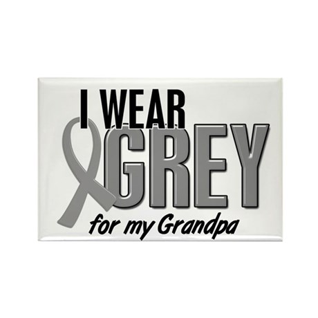 I Wear Grey For My Grandpa 10 Rectangle Magnet (10