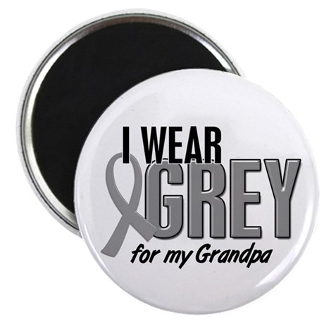I Wear Grey For My Grandpa 10 Magnet