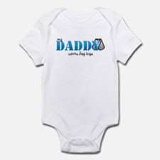 My daddy wears dogtags Infant Bodysuit