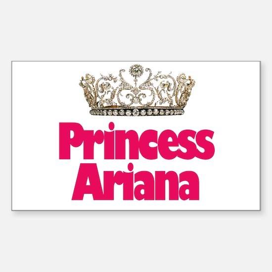 Princess Ariana Rectangle Decal