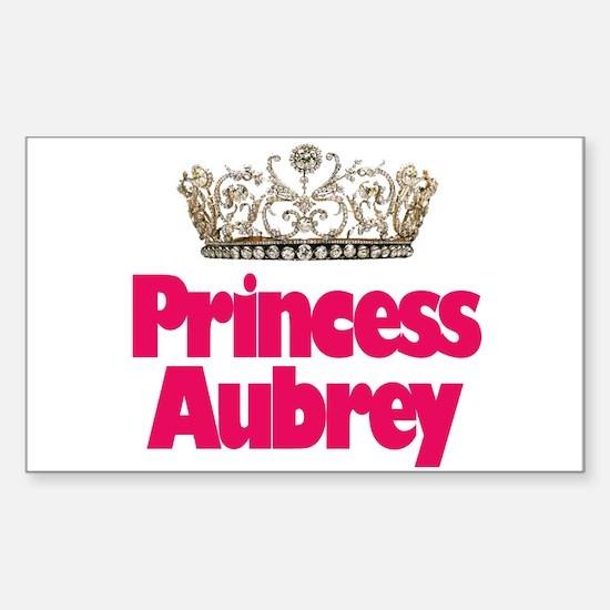 Princess Aubrey Rectangle Decal