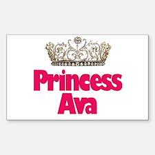 Princess Ava Rectangle Decal
