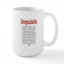 Large Disorganized Coffee Mug
