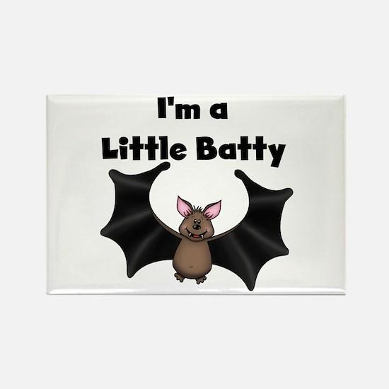 Batty Halloween Rectangle Magnet