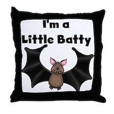 Batty Halloween Throw Pillow