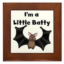 Batty Halloween Framed Tile
