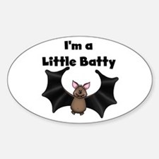 Batty Halloween Oval Decal