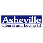 Asheville Liberal bumper sticker