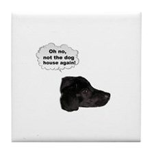 NOT THE DOG HOUSE AGAIN! Tile Coaster