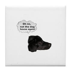 NOT THE DOG HOUSE AGAIN! Tile Coaster