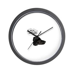 NOT THE DOG HOUSE AGAIN! Wall Clock
