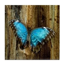Blue Morpho Butterfly Tile Coaster
