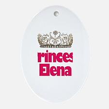 Princess Elena Oval Ornament