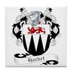Hacket Family Crest Tile Coaster