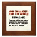 Genealogists Rule Framed Tile