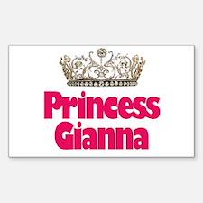 Princess Gianna Rectangle Decal