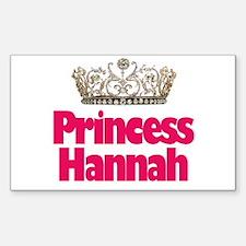 Princess Hannah Rectangle Decal