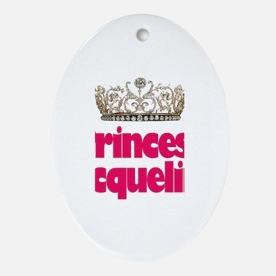 Princess Jacqueline Oval Ornament