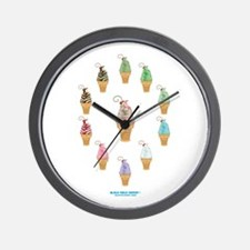 Kawaii Ice Cream Circle Wall Clock
