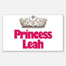 Princess Leah Rectangle Decal