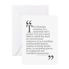 Christian Cemetery Birthday Card