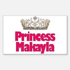 Princess Makayla Rectangle Decal