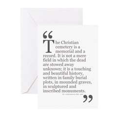Christian Cemetery Greeting Cards (Pk of 10)