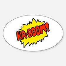 'Ka-Boom! Oval Decal