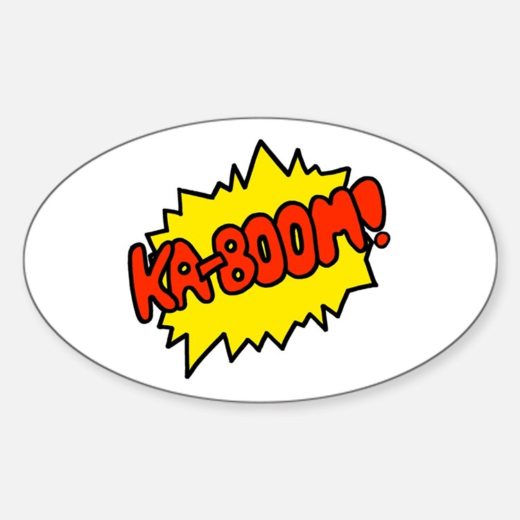 'Ka-Boom! Oval Decal