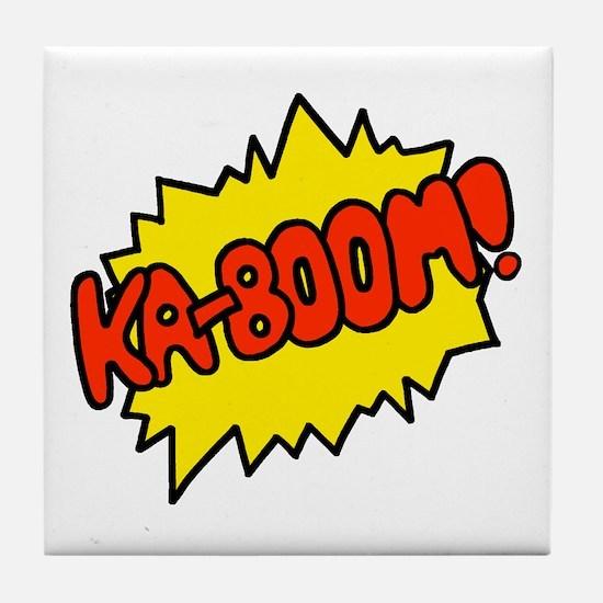 'Ka-Boom! Tile Coaster