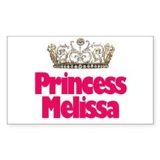 Princess Melissa Rectangle Decal