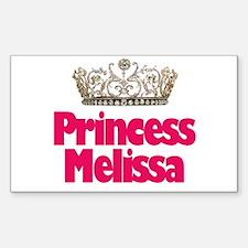 Princess Melissa Rectangle Decal
