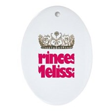 Princess Melissa Oval Ornament