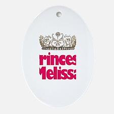 Princess Melissa Oval Ornament