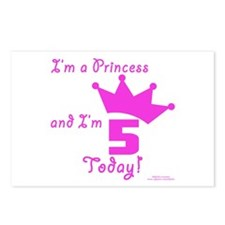 5th Birthday Princess Postcards (Package of 8)